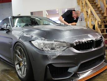 BMW M4 GTS having Suntek ULtra Matte PPF applied to the nose.