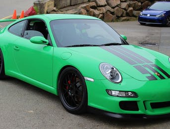 Porsche 911 in RS green was protected with Suntek Ultra PPF