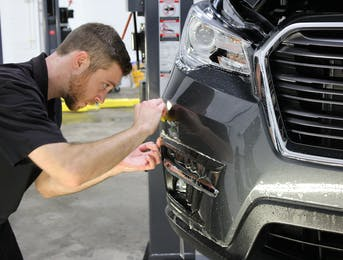 Stek PPf being installed to this 2019 Subaru Ascent