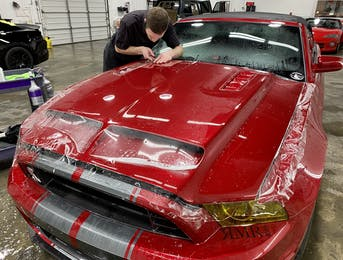 Xpel PPF install on Shelby GT500